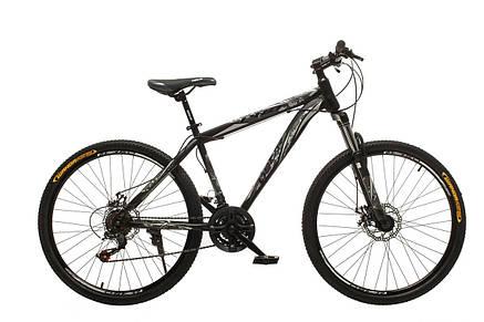 """Велосипед горный Oskar 26"""" M123 Сталь Черно-белый с амортизацией Хардтейл Велосипед гірський MTB, фото 2"""