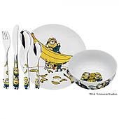"""Набор посуды детский """"Миньон"""" WMF MINIONS, белый, 6 предметов (12 8607 9964)"""