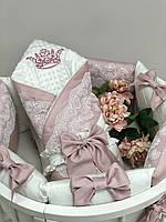Плед конверт Classic Kоллекция №1 пыльная роза
