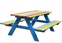 Деревянный столик для детской площадки 120*100см
