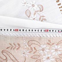 Льняная скатерть с мережкой  130х180, фото 2