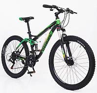 """Стильний алюмінієвий спортивний велосипед ACTIVE 26-A211, двухподвесной 26"""" рама 17"""", фото 1"""