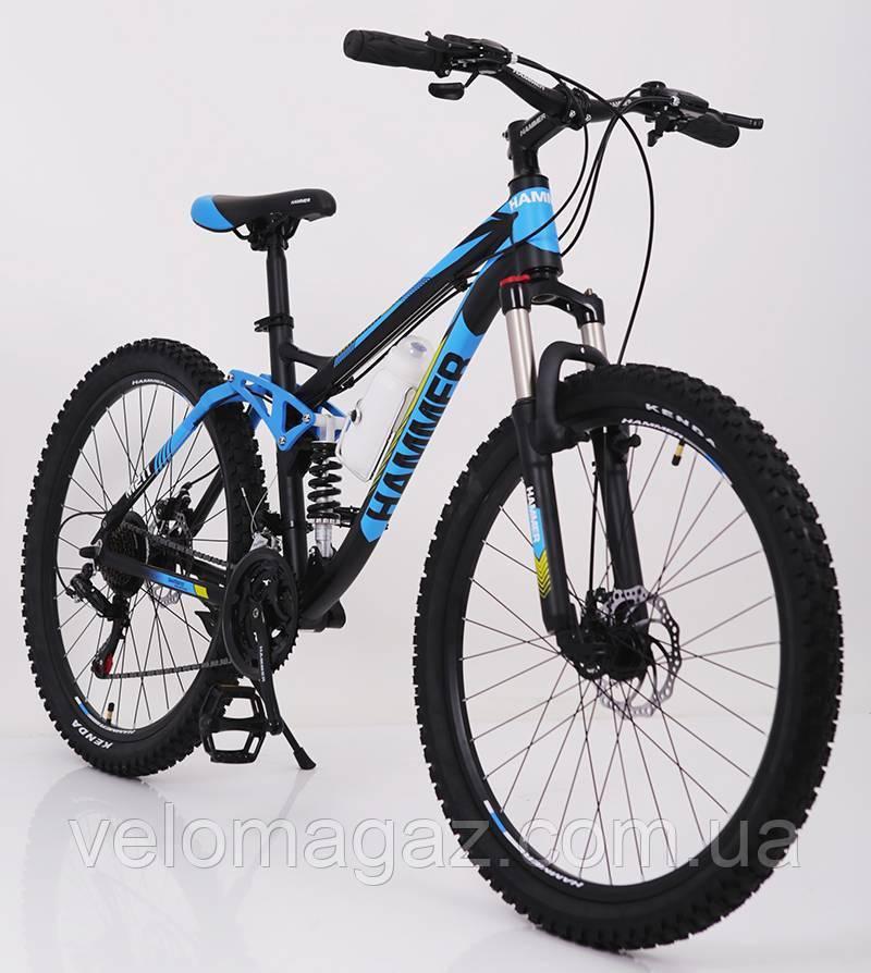 """Стильный алюминиевый спортивный велосипед ACTIVE 26-A211, двухподвесной 26"""" рама 17"""""""
