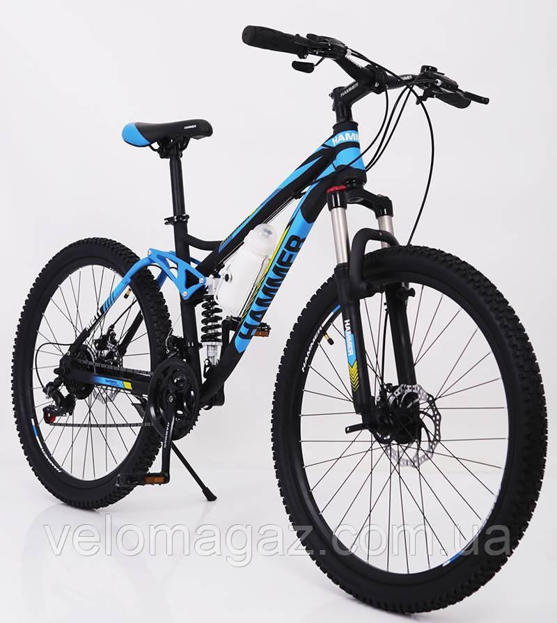 """Стильний сталевий спортивний велосипед ACTIVE 26-S211, двухподвесной 26"""" рама 17"""""""
