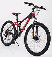 """Стильний сталевий спортивний велосипед ACTIVE 26-S211, двухподвесной 26"""" рама 17"""", фото 1"""