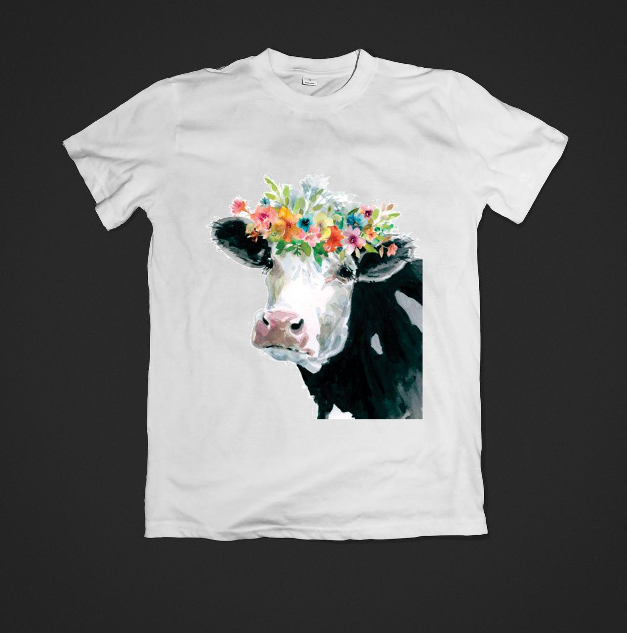 Футболка YOUstyle Cow 2 0249 XL White
