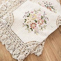 Праздничная скатерть с цветами 100х150, фото 3