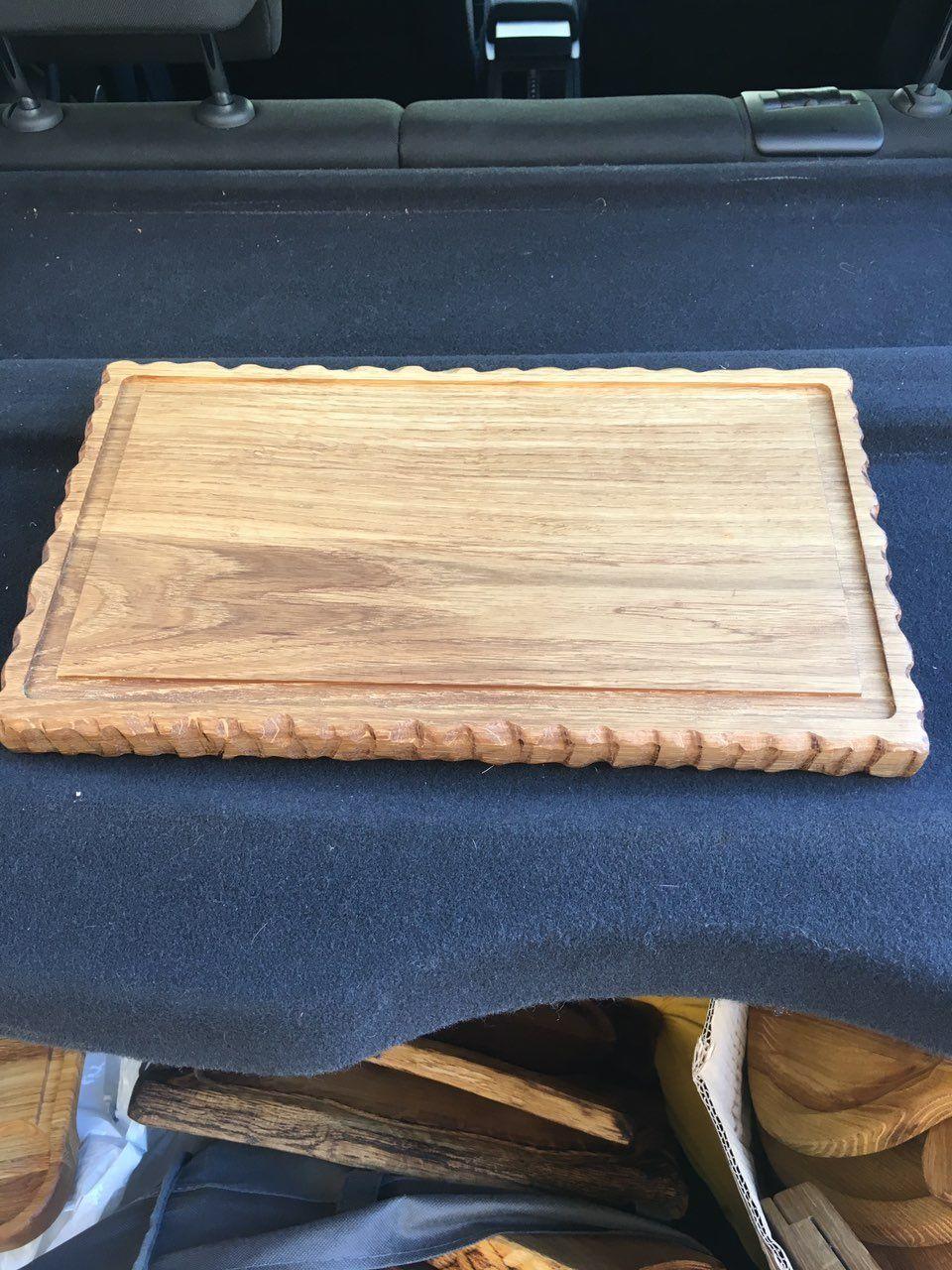 Деревянная Доска для подачи с декором волна