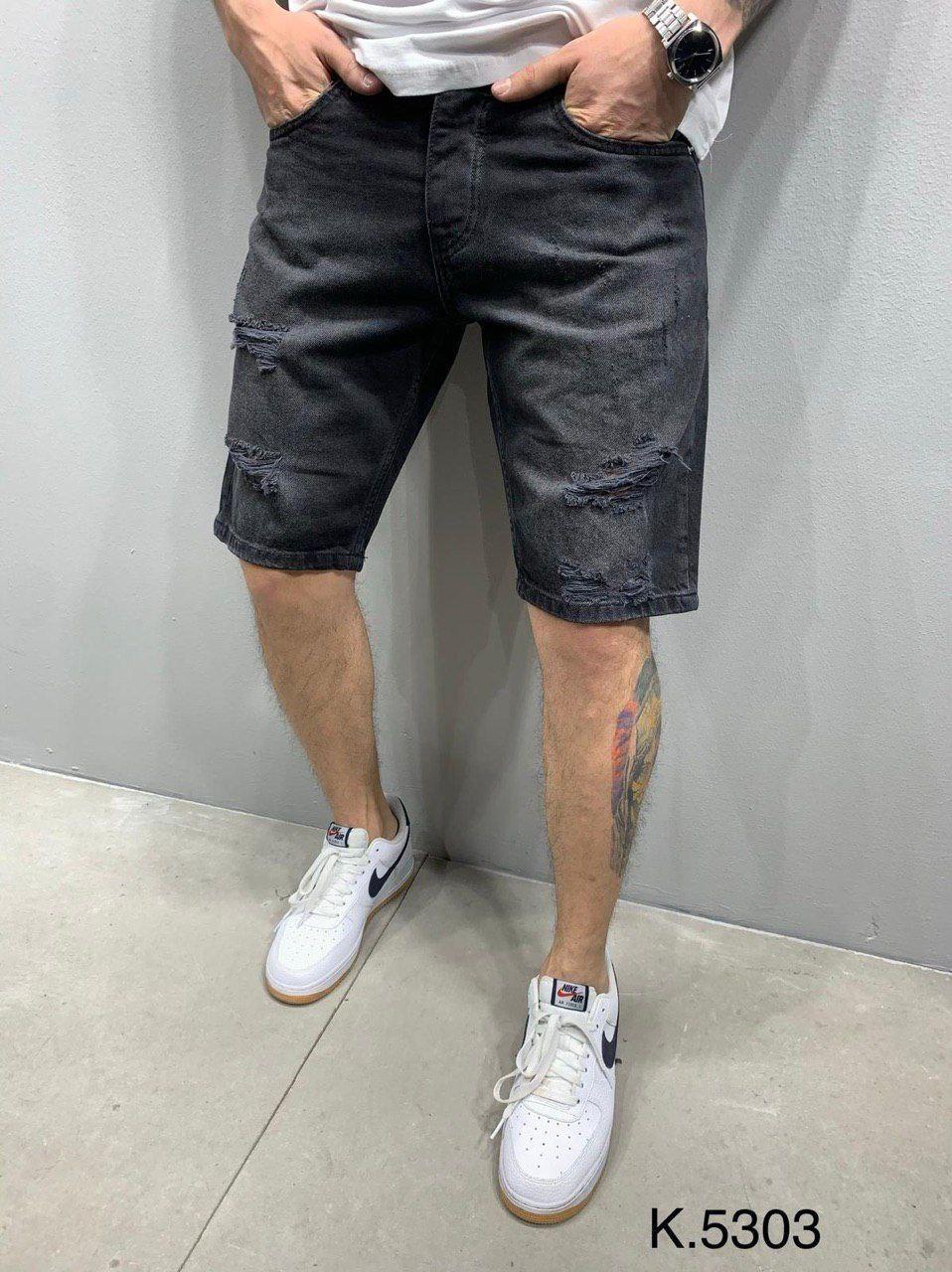 Мужские джинсовые шорты темно-серые 2Y Premium K5303