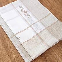 Скатерть из льна с вышивкой 150х220, фото 2