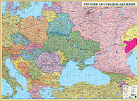 акКРТ К  Стена Україна та суміжні держави Політична (1:1 500 000) ПЛАНКА картон д