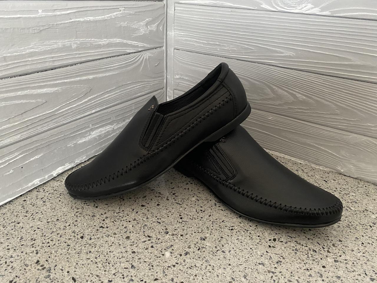 Мужские кожаные мокасины Falcon, Черные, кожподклатка
