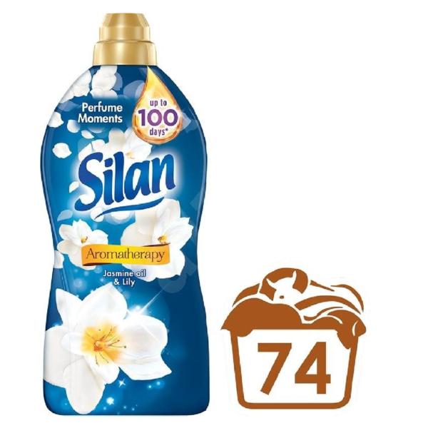 Ополаскиватель для белья Silan Ароматерапия с ароматом Лилии и масла Жасмина 1.85л