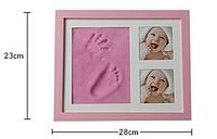 Фоторамка SUNROZ набор для отпечатка ручки ножек ребенка рамка слепок для оттисков My Baby Art Danko Toys
