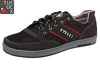 Кросівки сітка Kindzer S-57 чорні 44р.(устілка29,4см)