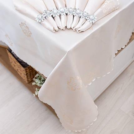 Скатерть и салфетками с кольцами 150х220, фото 2