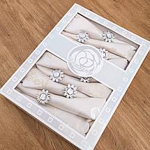 Скатерть и салфетками с кольцами 150х220, фото 3