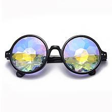 Очки калейдоскоп круглые Resteq Черные (821688843)