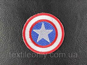 Нашивка Щит Капітана Америки 50 мм