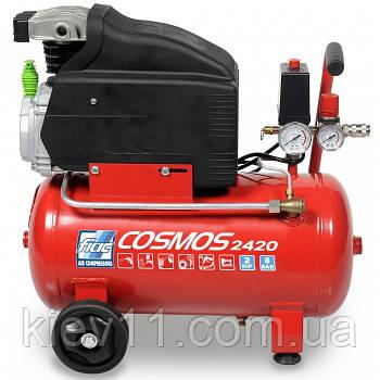 Компрессор 24л поршневой 220В COSMOS 2420 CE ROSSO FIAC 9995260000