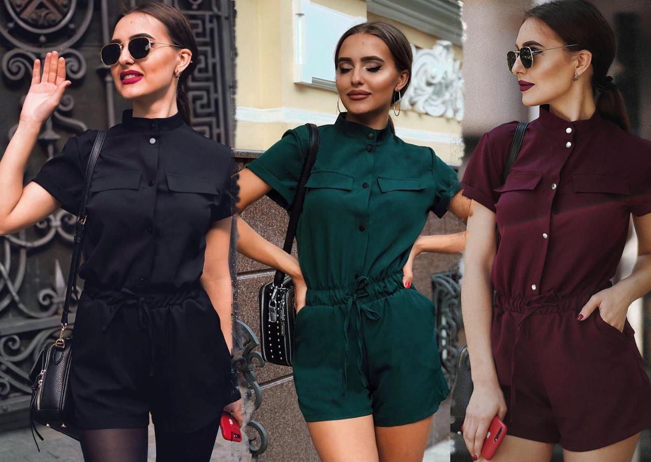 Летний комбинезон женский шортами/ XS-L, разные цвета, AL-Комбинезон
