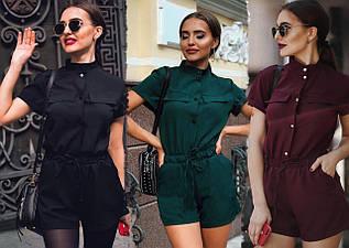 Летний комбинезон женский шортами/ XS-L, разные цвета, AL-Комбез