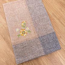 Скатерть из льна с вышивкой  130х180, фото 3