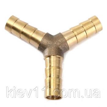 Соединитель пневматический Y-обр. тройник елочка 10*10*10мм AIRKRAFT E102-5-3