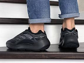 Мужские кроссовки черные текстиль пласмаса, фото 2