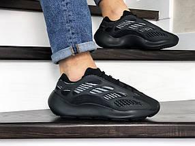 Мужские кроссовки черные текстиль пласмаса, фото 3