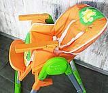 Детский стульчик для кормления CH-81 оранжевый, фото 2
