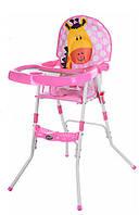Детский стульчик для кормления GL 217С-909 розовый, фото 1
