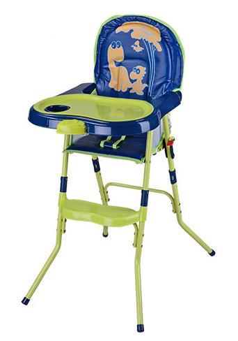 Детский стульчик для кормления HC100A сине-зеленый
