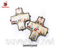 Иконка ввиде креста с ликами Святых