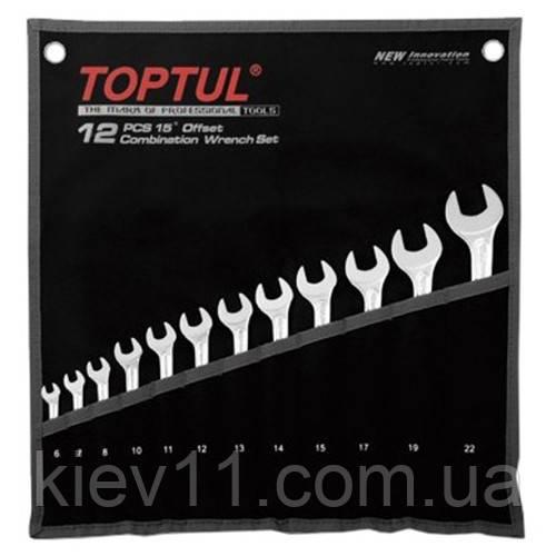 Набір рожково-накидних ключів TOPTUL 12 шт. 6-22 Hi-Performance GPAX1202