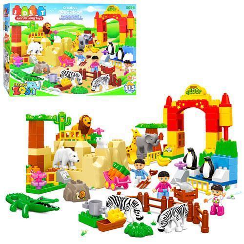 Детский конструктор JDLT 5096, зоопарк, ( 115 деталей)
