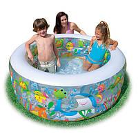 Надувной бассейн для детей - Intex 58480 Аквариум,надувное дно,152 х 56 см