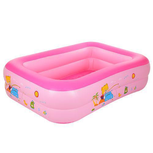 Детский надувной бассейн D25648 розовый,150 х 110 х 35 см