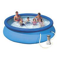 Сімейний наливна басейн з фільтр-насосом Intex 28132 Easy Set, фото 1