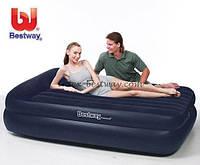 Надувной велюр матрас-кровать, насос 220 V, 203*163*48 см, BESTWAY  67345, фото 1
