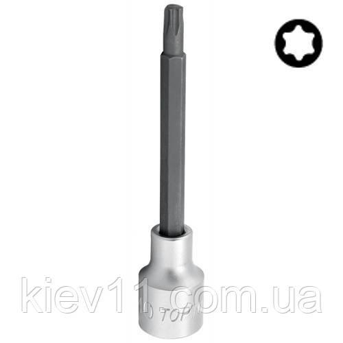 "Бита с торцевой головкой TORX TOPTUL T55 L140мм 1/2"" с отверстием BCVA1655"