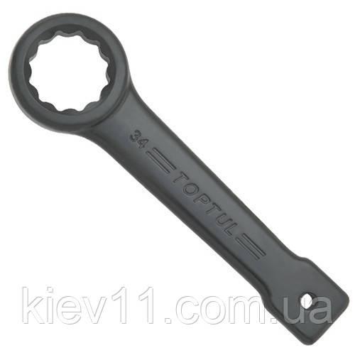 Ударный ключ накидной односторонний TOPTUL 75мм AAAR7575