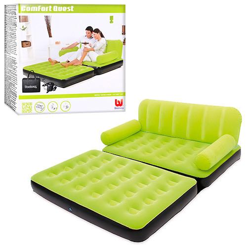 Раскладной диван для двоих со спинкой (193-152-64 см) Intex 67356