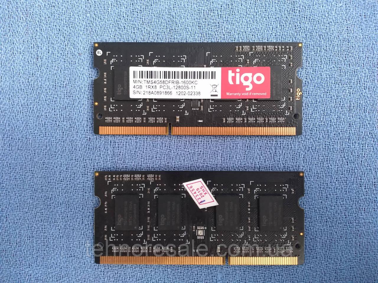 Оперативная память SODIMM DDR3 4Gb x 1, 1600 MHz, CL11, для ноутбуков, для моноблоков