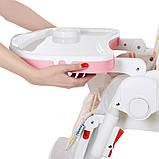 Детский cтульчик-трансформер для кормления M 3822-5, розовый с фламинго, фото 8