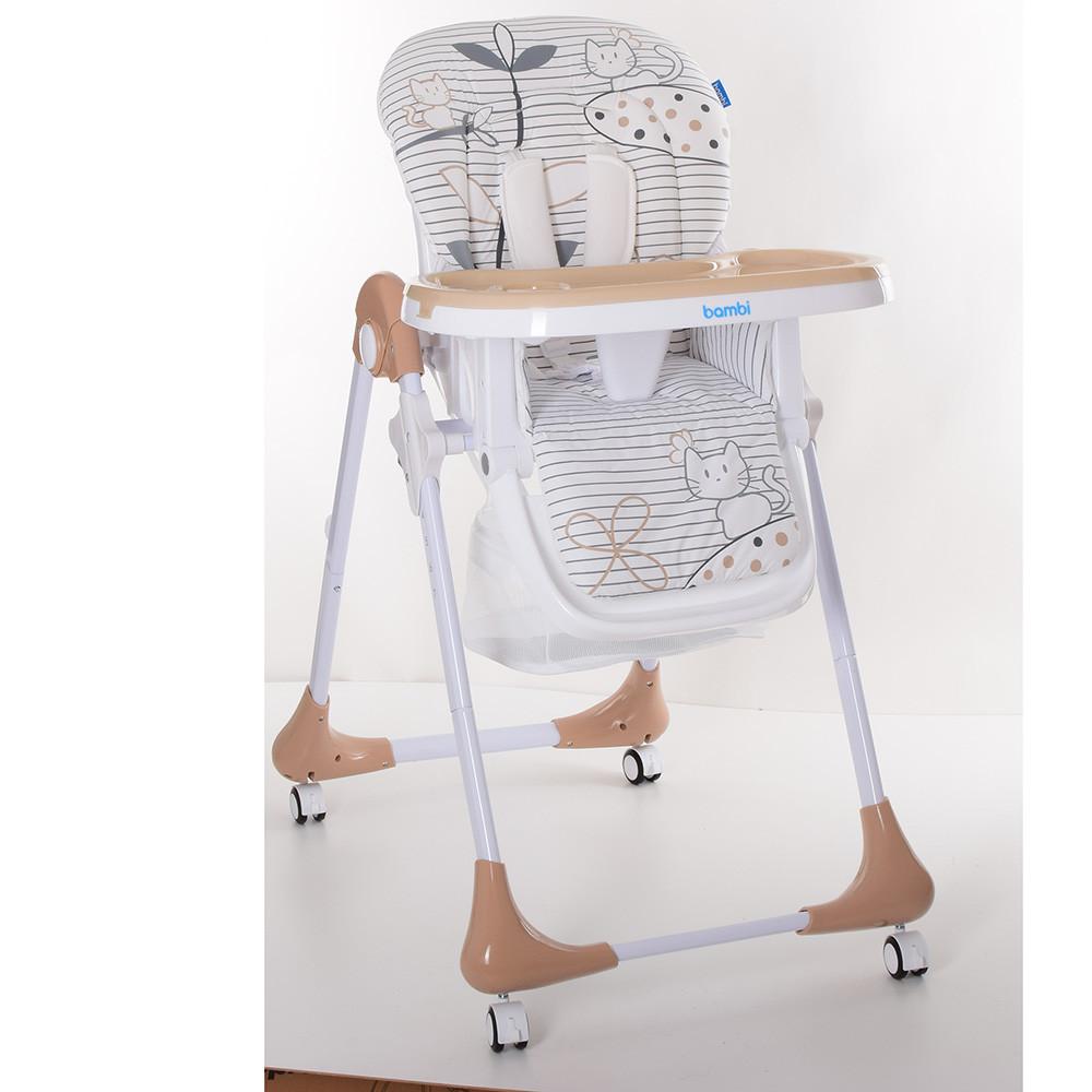 Детский cтульчик-трансформер для кормления M 3233 CAT TOFFEE