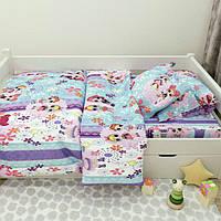 """Детское постельное белье """"Сестрички LOL"""" в кроватку"""