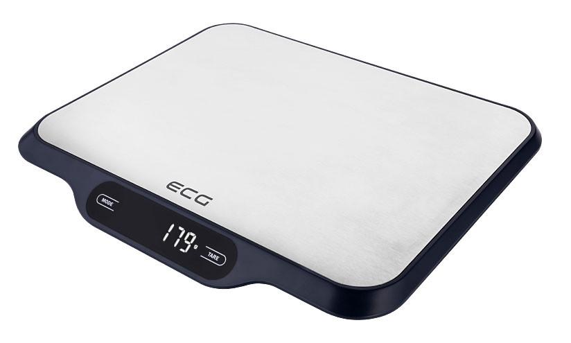 Весы кухонные ECG KV 215 S 15 кг Нержавеющая сталь / Черный