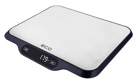 Весы кухонные ECG KV 215 S 15 кг Нержавеющая сталь / Черный, фото 2