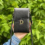 Черная сумка - кошелек, фото 2